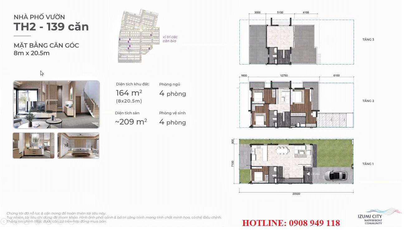 Thiết kế nhà phố dự án Izumi City