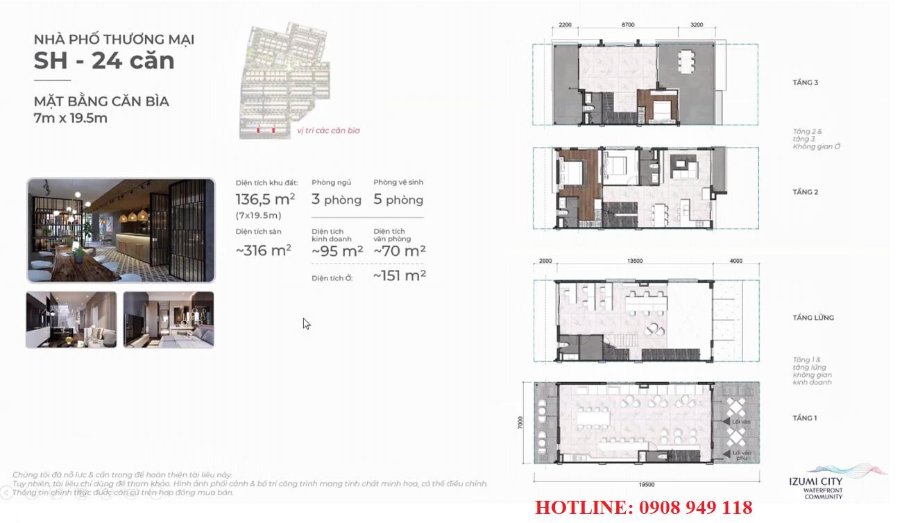 Thiết kế shophouse dự án Izumi City