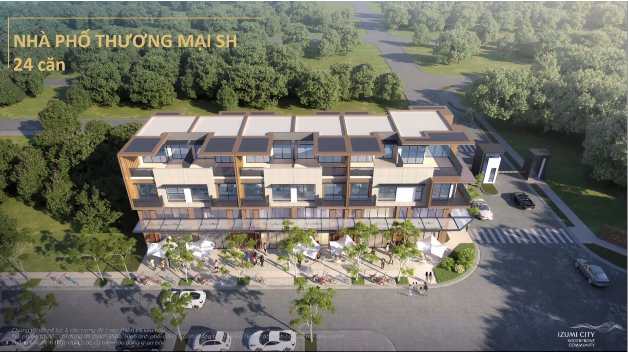 Mẫu shophouse Dự án Izumi City Đồng Nai
