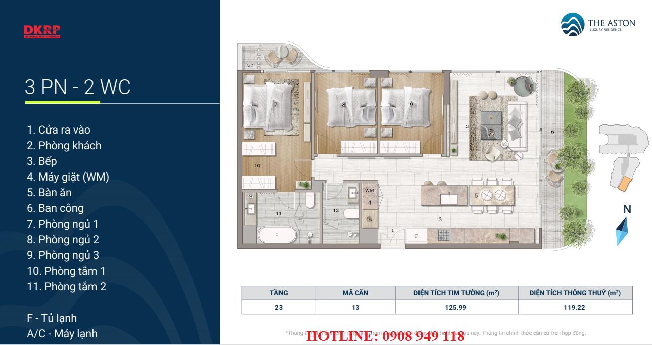 Thiết kế căn hộ The Aston Nha Trang
